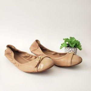Cole Haan Air Reesa Tan Leather Buckle Ballet Flat